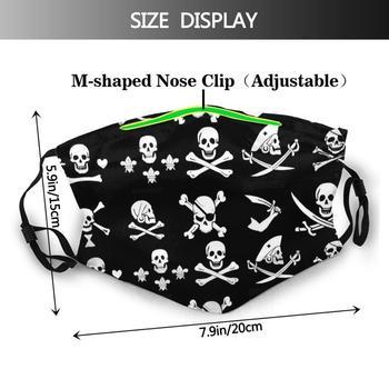 Black Pirate Banners Skull , Crossed Bones , Swords Adult Kids Anti Dust Filter Diy Mask Pirate Pirate Flags Banner Talk Like A 1