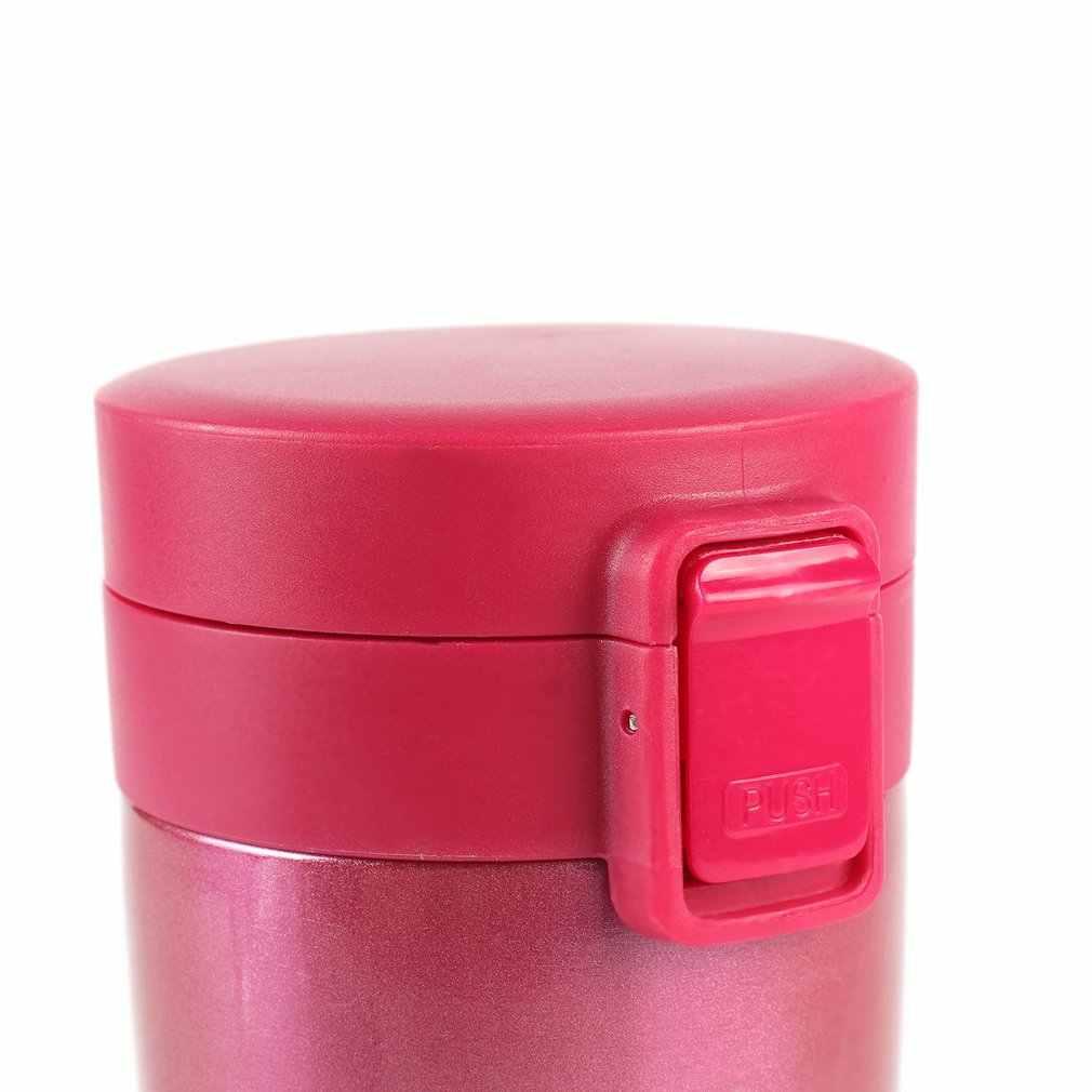 380ml doble pared a prueba de fugas de acero inoxidable frascos de vacío coche café té leche viaje Taza Termo botella