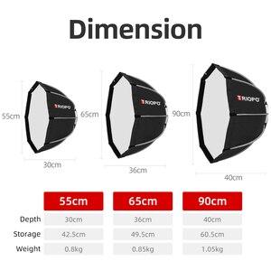 Image 3 - TRIOPO KS90 90cm Faltbare Octagon Softbox Halterung Montieren Weiche box Griff für Canon Nikon Godox Yongnuo Speedlite blitzlicht