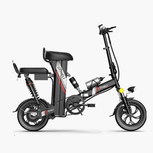 Electric Scooter Folding Adults Double-Seat 2-Wheels 12inch 60KM Mini 48V 350W with Bicycles