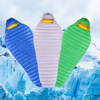 AEGISMAX Leto Outdoor Camping Hiking Ultra Dry White Goose Down Mummy Spring Autumn Winter Ultralight Sleeping bag