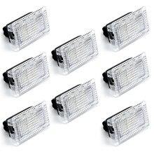 Luz LED Ultra brillante para Interior de coche, accesorios para decoración de coche, lámpara para puerta, Kit de luz para maletero, 8 uds.