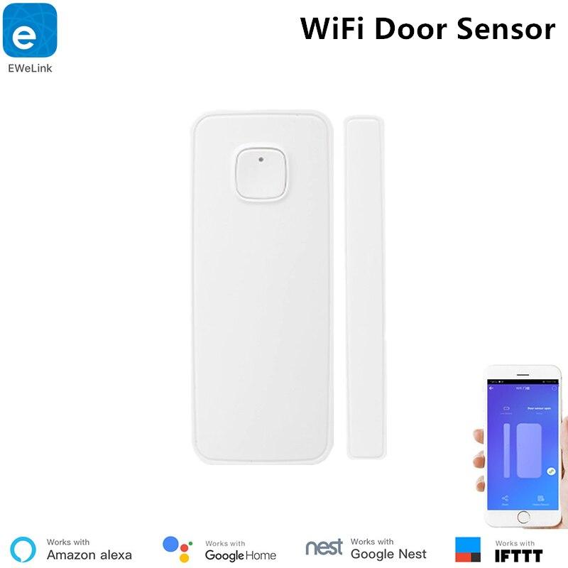Sensor de Porta sem Hub Ligação com o Outro Ewelink Inteligente Wifi Necessário Porta Aberta – Fechado Detectores Interruptor no Aplicativo