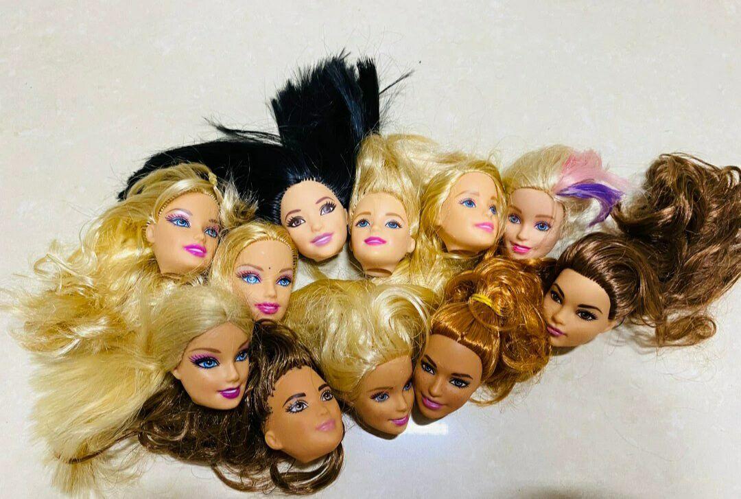 Außenhandel Original Köpfe Für Barbies Puppen zubehör DIY Geburtstag Geschenke Mix-Stil Puppen Köpfe