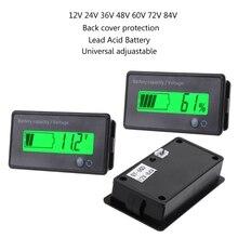 New 12V-84V Lead-acid Battery Capacity Indicator Voltage Meter Voltmeter LCD Monitor Measurement & Analysis Instruments