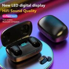 цена на Bluetooth Wireless Headphones with Microphone Sports Waterproof Bluetooth Earphones HIFI Stereo Noise Cancelling Headset Earbuds