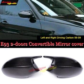 Für BMW E93 2 Tür Cabrio Spiegel Abdeckung Kappe Hinzufügen auf Stil M3 Look 100% Echt Abgesaugt Trockenen Carbon Faser ersatz Spiegel 06-09