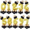 32 дюймов Золото Количество воздушных шаров для детей 1, 2, 3, 4, 5, 8 количество цифр гелиевый воздушный шар из фольги для будущей матери День рож...