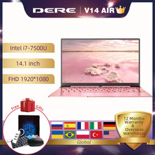 Dere V14 Air 14.1inch Laptop Notebook Intel i7 1920x1080 IPS Backlit Keyboard 8GB 256GB Gaming Laptops Windows 10 Pro Mini PC