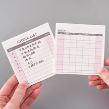 Small Simple Noteook Weekly Plan Monthly Agenda Check List Memo Pads Stationery Office Accessory School Supplies