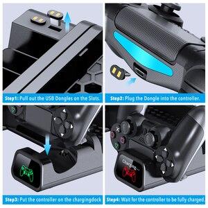 Image 3 - OIVO PS4/PS4 スリム/PS4 プロデュアルコントローラ充電器コンソール垂直冷却スタンド充電ステーション 4 用プレイステーション 4