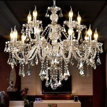 Luxury K9 Crystal Wedding chandeliers Hotel Foyer Bedroom Kitchen Island cristal chandelier Tiffany Pendant Chandelier Lamp