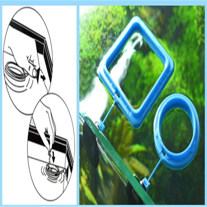 Nouveau Aquarium alimentation anneau poisson réservoir Station flottant alimentaire plateau mangeoire carré cercle accessoire eau plante flottabilité ventouse