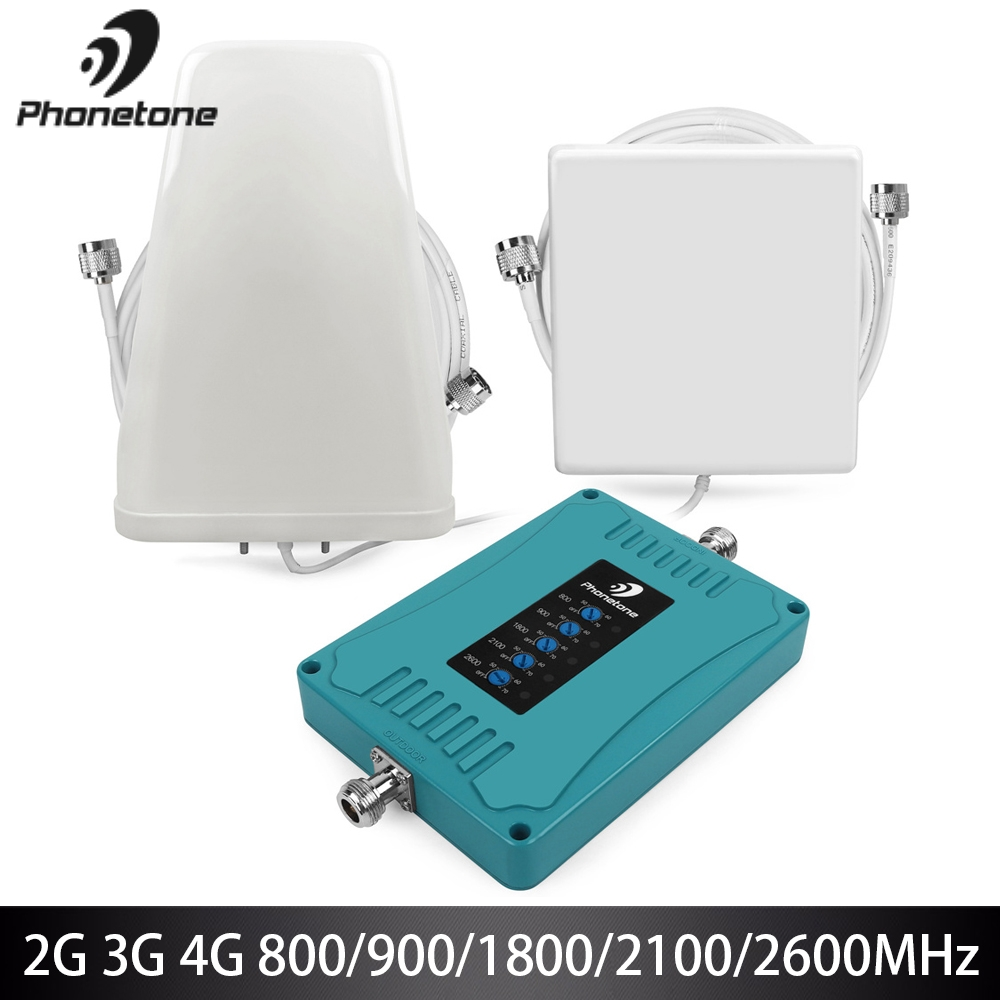 2G 3G 4G Signal Booster GSM Repeater 800/900/1800/2100/2600/MHz Celular 4G LTE Amplifier Repeater 4g Lte Mobile Network Booster