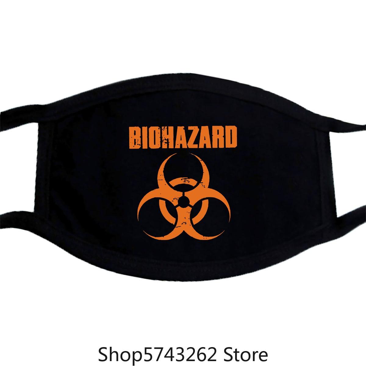 Biohazard Logo Mask S-Xxl Hardcore Metal Band Mask Washable Reusable Mask