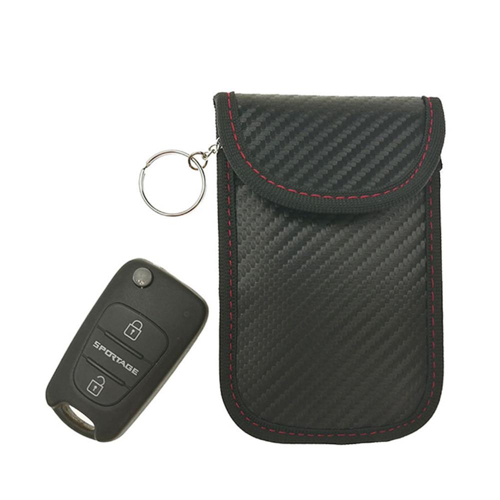 New Car Key Signal Blocker Case Faraday Bag Signal Blocking Shield Case Protector Pouch For Car Key Block Wifi / GSM / LTE / NFC