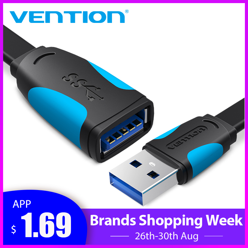 Vention Extension-Cable Male-To-Female for Laptop PC Usb2.0-3.0