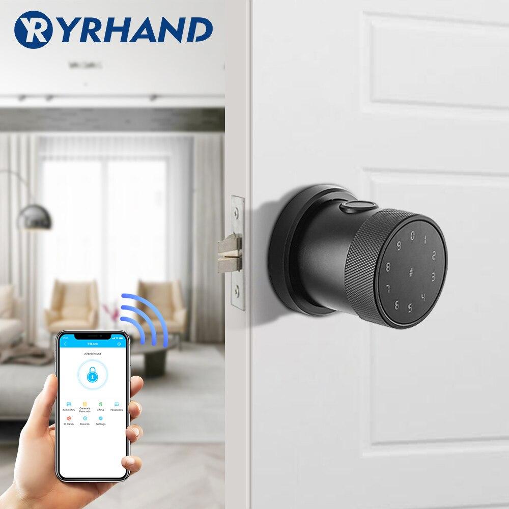Bluetooth TT lock App Biometric fingerprint door lock  Waterproof wifi Digital RFID Electronic Code Keypad smart door lock-in Electric Lock from Security & Protection