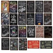 [Mike86] пользовательские Рождество Кофе Чай Мел рисунок Металлический Знак потертый шик ретро настенные кафе живопись 20*30 см LTA-1696
