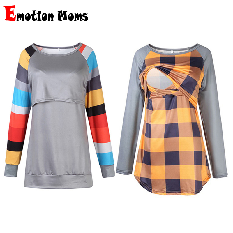 Emotion Moms Long Sleeve Winter Maternity Clothes Maternity Top Breastfeeding Tops Sweater Nursing Hoodies For Pregnant Women