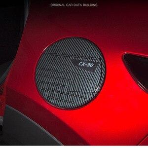 Image 4 - For 2020 Mazda CX 30 CX30 ABS Carbon Fiber Gasoline Tank Cap Fuel Tank Cover Protective Sticker Sticker Car Styling Accessories