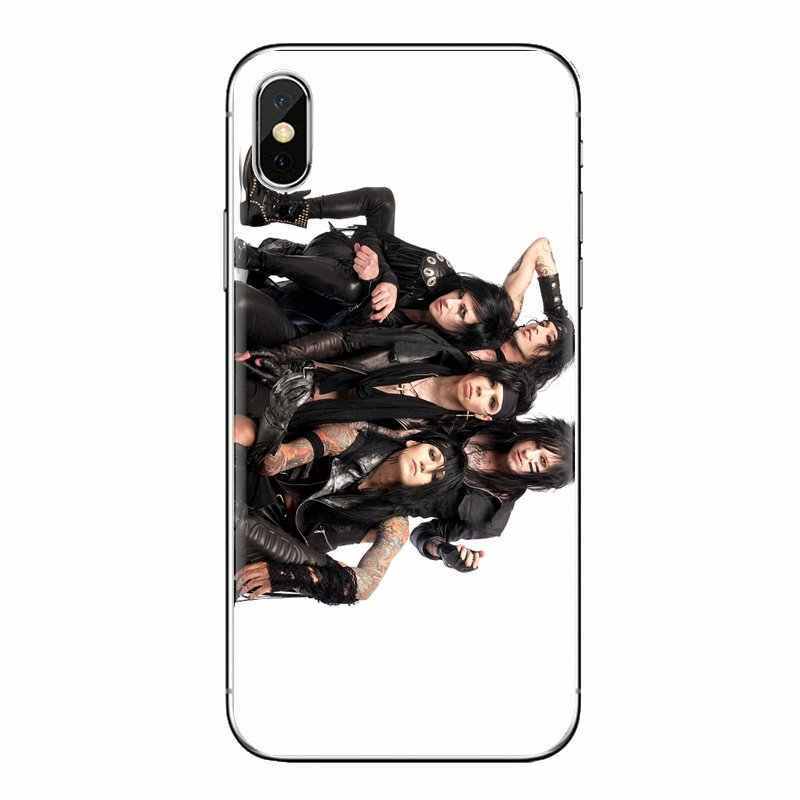 עבור iPhone XS Max XR X 4 4S 5 5S 5C SE 6 6S 7 8 בתוספת Samsung Galaxy j1 J3 J5 J7 A3 A5 מוסיקה בנד שחור צעיף כלות רך TPU Case