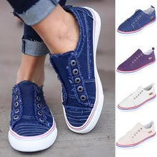 Drop Shipping Dihope Womens Large size Flat-soled Sneakers Women Canvas Shoes Vulcanize Summer Casual Zapatillas Mujer