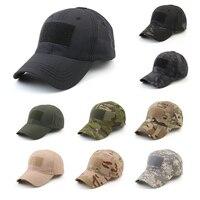 Gorras ajustables de camuflaje para exteriores, gorro táctico sencillo, militar, ejército, caza, deporte, ciclismo, senderismo