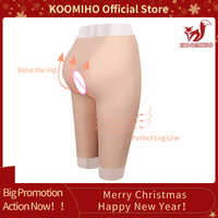 KOOMIHO Silicone Increase Hip 5-Point Pant Crossdressing Enhancer Ass Pussy Underwear Shaper Hip Up Transgender Drag Queen 2G