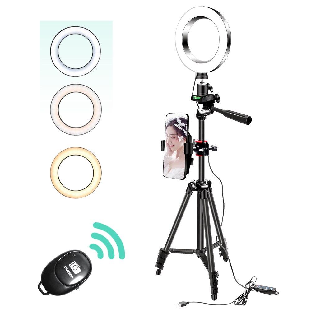 26Cm/16Cm Camera Selfie Ringlight With 130Cm Tripod Stand Usb 3 Light Ring Selfie Light Photo Led Stand For Youtube Tiktok Phone|Photographic Lighting| - AliExpress