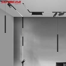 Sistemas de iluminação pista moderna conjunto incorporado magnético luzes pista sala deco led spotlight para casa quarto roupas lojas