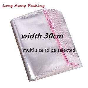 Image 1 - Bolsas de plástico Opp transparentes de 30cm de ancho con sellado, paquete de celofán, bolsa de regalo de fiesta de boda