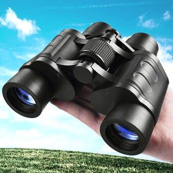 HD Binoculars 10000m Professional Powerful Clarity BAK4 Prism FMC Coating low light Night Vision Telescope For Hunting X390B powerful 10x50 hd binoculars eyeskey porro professional bak4 prism telescopes portable outdoor camping hunting binocular tools