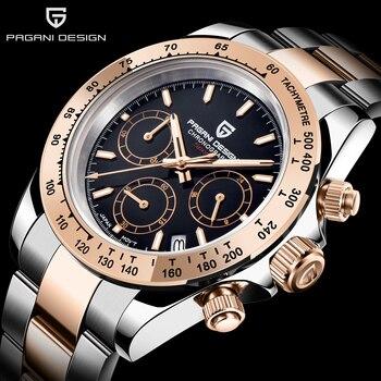 PAGANI DESIGN Mens Watches Waterproof Automatic Watch Date Chronograph Sport  Quartz Watch Men Wristwatch Men Relogio Masculino