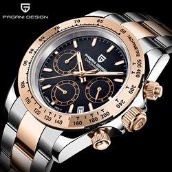 PAGANI DESIGN męskie zegarki wodoodporny automatyczny zegarek chronograf z datownikiem Sport kwarcowy zegarek męski zegarek męski Relogio Masculino