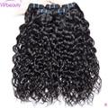 Перуанские человеческие волосы пучки волос натуральный черный 1B волосы переплетения 100% человеческих волос Связки 3/4 шт./лот VIPbeauty Remy челове...