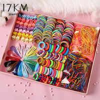 Bandas elásticas de nailon coloridas para el pelo para niñas. Conjunto de bandas de goma para niñas. Accesorios para el cabello 780 Uds.