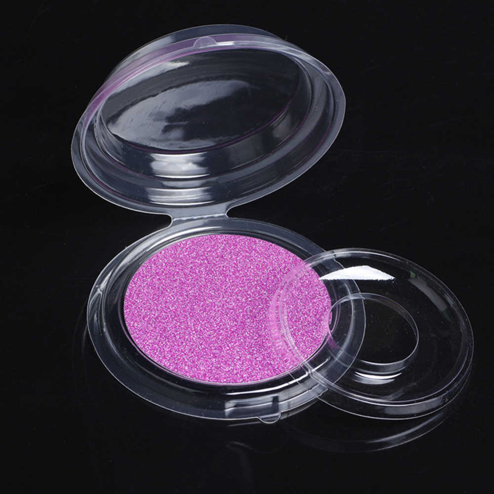 10pcs False Eyelash Packing Box Transparent Lid Tray Individual Magnet Eyelashes Stand Acrylic Pad Lash round Tool Case