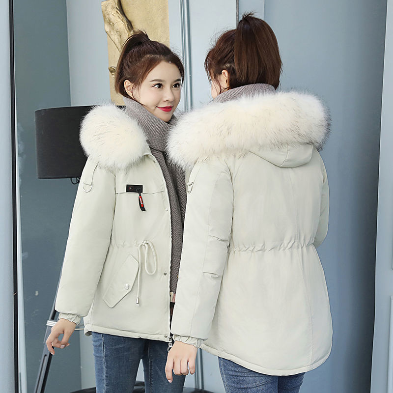 Winter   Down   Jacket Hat Season Lead Cotton-padded Clothes Fund Student   Down   Cotton Easy Cotton-padded Jacket Loose   Coat   Woman