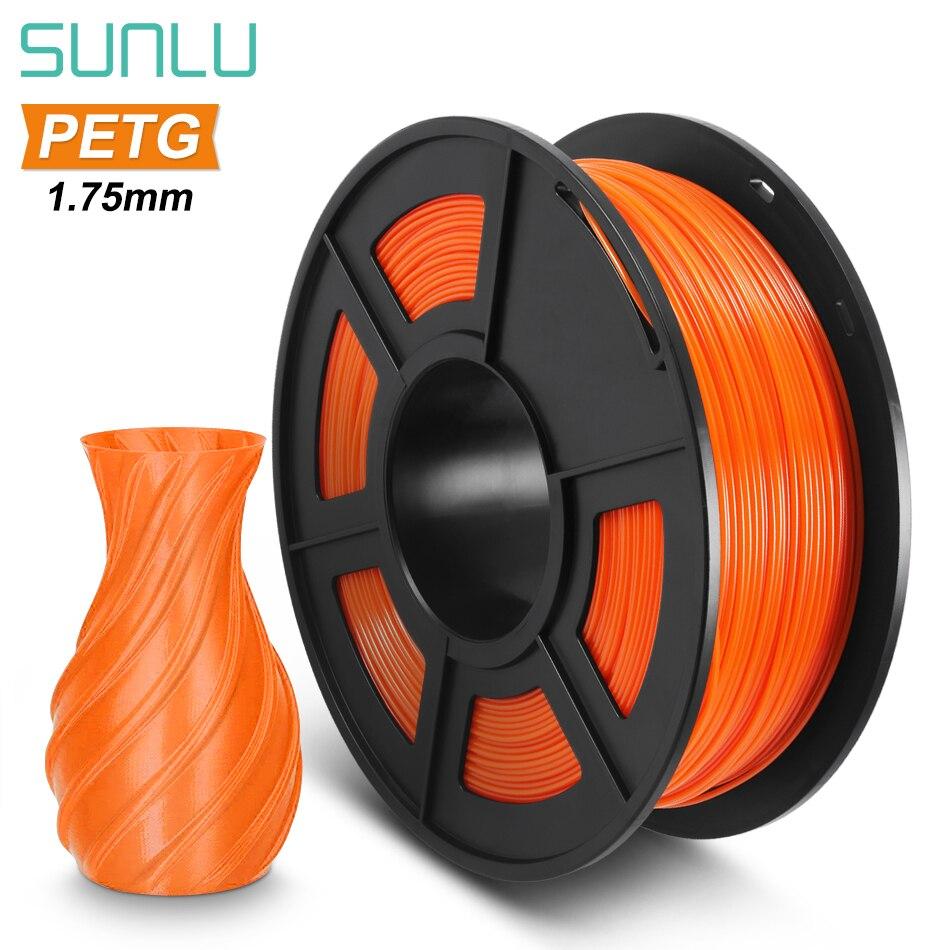 SUNLU PETG 3D нити 1,75 мм 1 кг 2.2lb PETG 3D-принтеры нити возможна погрешность +/-0,02 мм прозрачный ПЭТГ