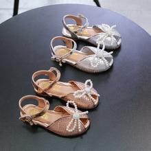 3-12 Year Old Beading Rhinestone Sandals Children Fashion Pearl Sandals For Kids Sport Girl Dress Princess Elegant Summer Shoes