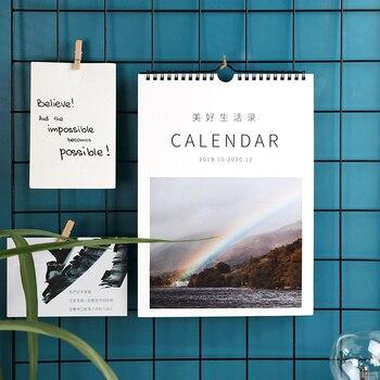 2020 New Literary Calendar Simple Hangable Calendar Lunar Calendar Schedule Wall Calendar Decoration Calendar School Supplies