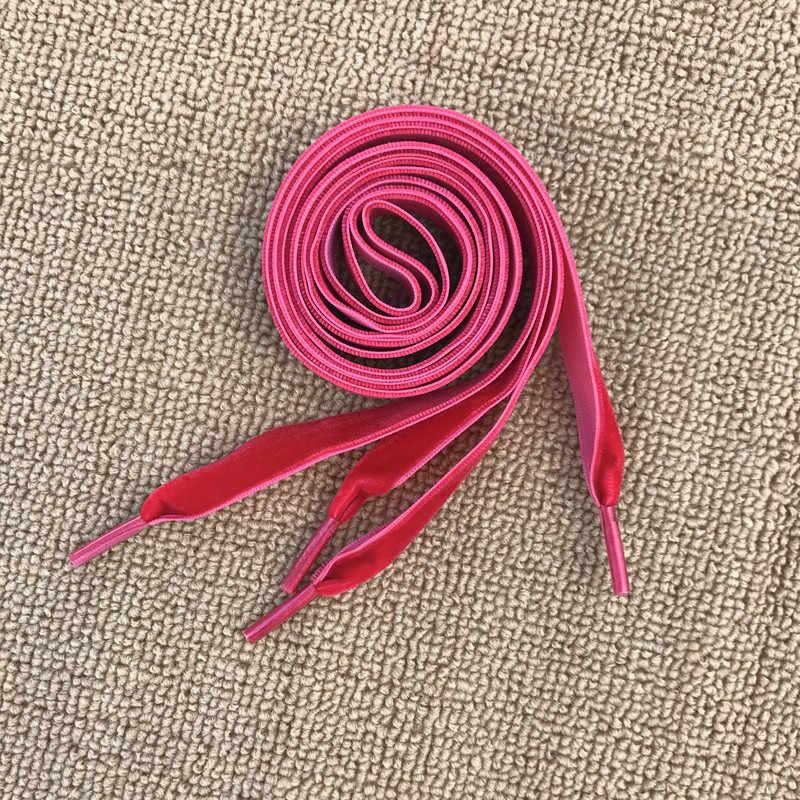 Fashion Velvet Shoelace Women Vintage Trendy 80/160cm Boots Shoelaces Polyester Multi Color Athletic Sports Shoe Lace Strings