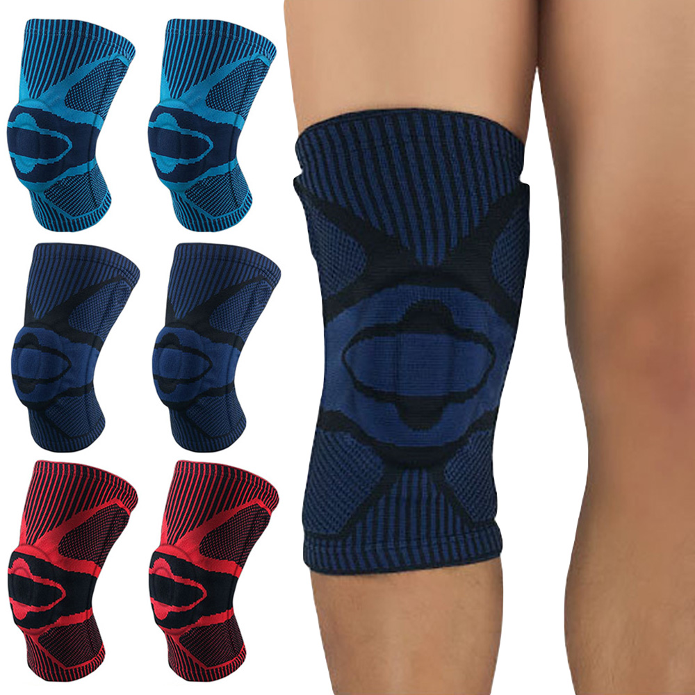 Sports Knee Pads Brace Silicone Spring Knee Protection Support Training 1 Piece