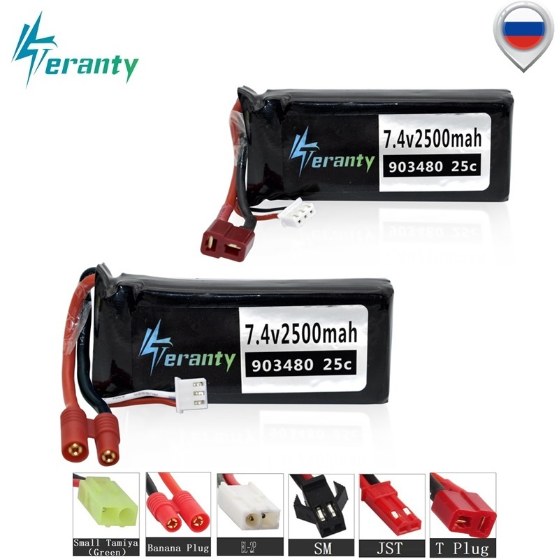 MAX 45C 7.4v 2500mAh 25C Lipo battery for Syma X8C X8W X8G X8 RC Quadcopter Parts 2s 903480 7.4V Battery for 12428 12423 RC Car