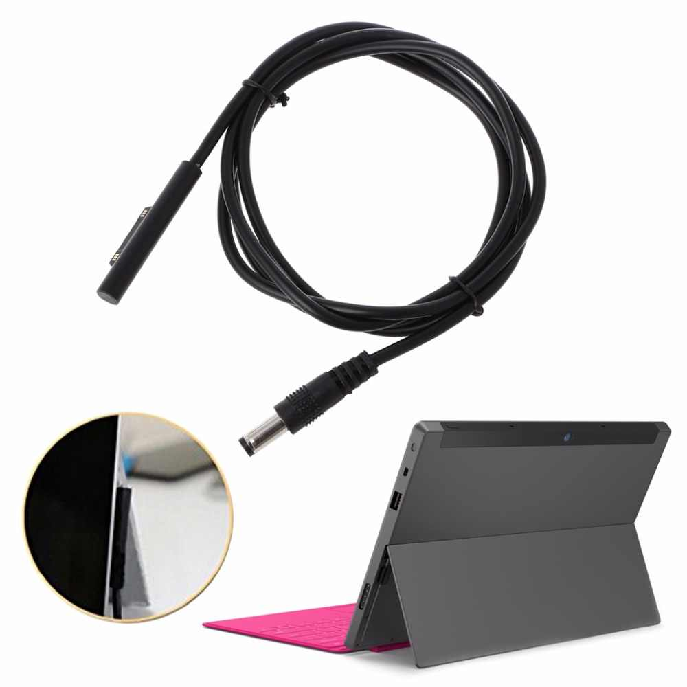 5.5*2.5mm DC Plug Charger Adapter Opladen Kabel Koord Voor Microsoft Surface Pro 3 4 Tablet PC 120cm Zwart Kabels