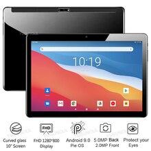 Gorący nowy Ultra cienki 10 cal Tablet PC telefon otrzymać telefon zwrotny od 32GB ROM 2.5D szkło hartowane 5.0MP kamera Android 9.0 ciasto Tablet PC 10.1 GPS pad