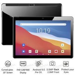 Горячее предложение ультра тонкий 10-дюймовый планшетный ПК Телефонный звонок 32 Гб Встроенная память 2.5D закаленное Стекло 5.0MP Камера Android 9,0 ...