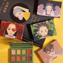 NOVO Eyeshadow Palette 8 Color Matte Shimmer Smudge-proof Long Lasting Brighten