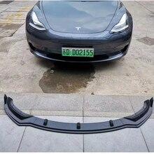 Car-Styling Front Bumper Lip lip Fit For Tesla Model 3 Sedan 2016 - 2018